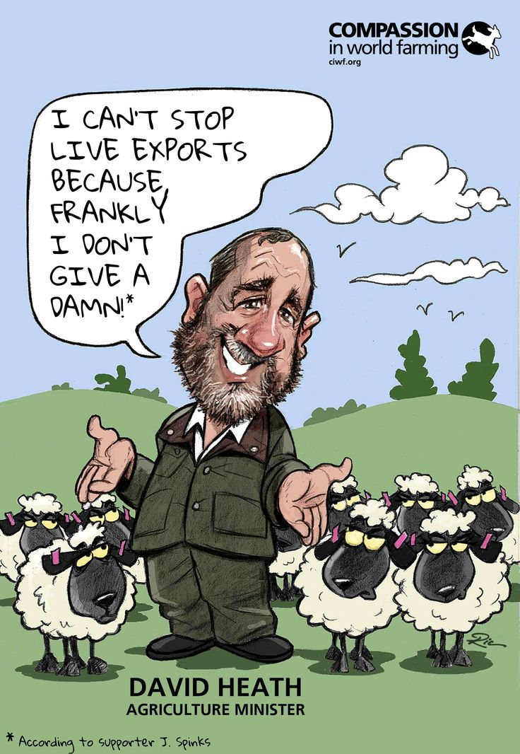 Thanks to J Spinks on Facebook for this excuse as to why David Heath MP can't stop live exports.