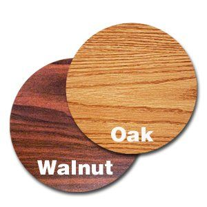 "Oak Street Manufacturing OW30R Two Sided Round Tabletop, 30"" Diameter x 1"" Thick, Oak/Walnut  1-inch thick industrial grade particle board  Thermally fused melamine both sides  High quality extruded rubber t-mold edging  All tabletops boxed separately  Base is not included"