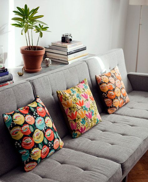 Home decorBrie Harrison, Living Rooms, Favorite Places, Living Room Design, Interiors Design, Tropical Living Room, Grey Couches, Colours Pillows, Apartments Design
