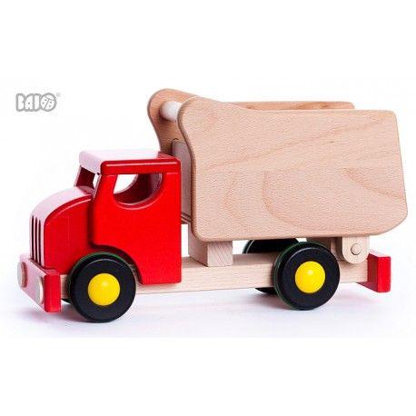 Oto pierwsza z nich:)  Dwa w jednym: Bajo 42110 - 26cm Drewniana Wywrotka typu Tipper jak również Sorter Klocków:)  Ogómione kółka sprawiają, że pojazd sunie lekko po podłodze.  Sprawdźcie sami:)  http://www.niczchin.pl/pojazdy-drewniane/2485-bajo-42110-wywrotka-tipper.html  #bajo #wywrotka #tipper #sorter #zabawki #niczchin #krakow