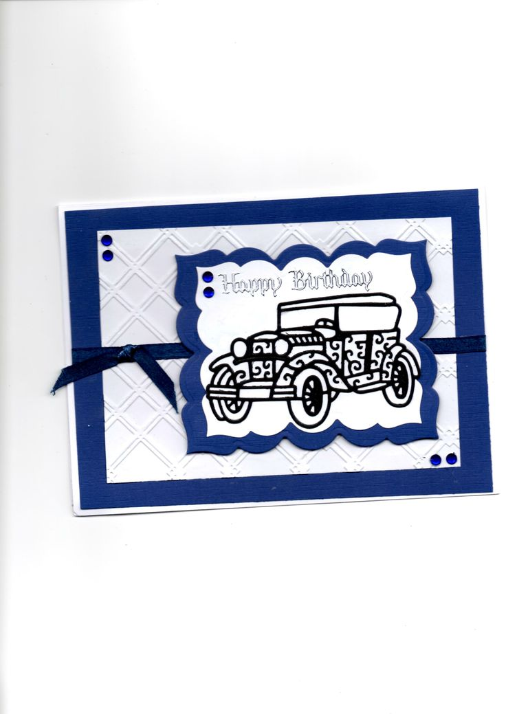 tattered lace car Card by Sue Elvin