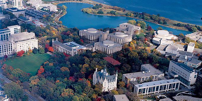 Aerial view | Northwestern University | Usa university ...
