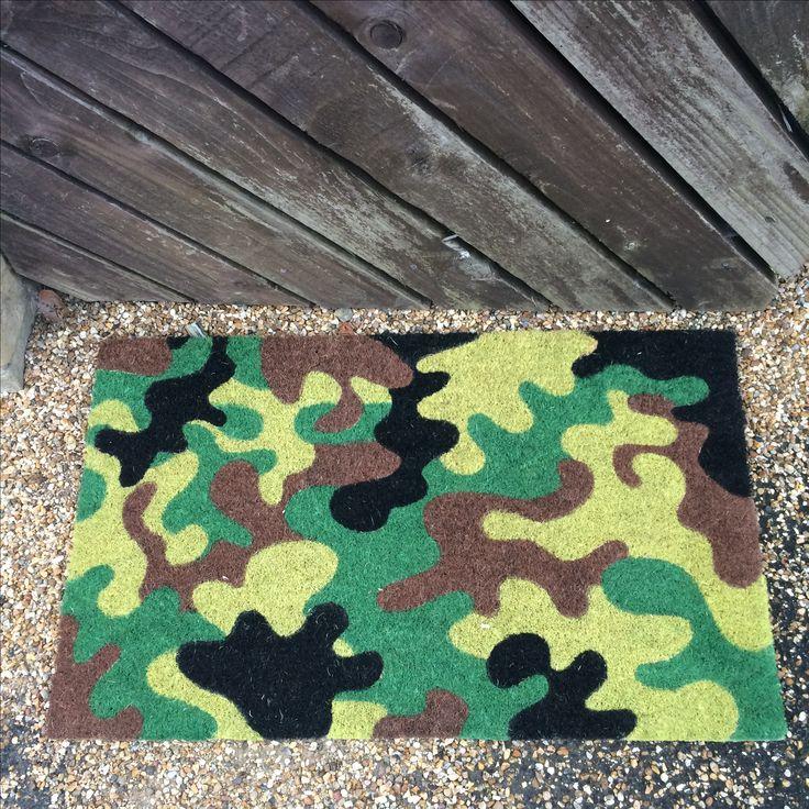 Rohožka z kokosového vlákna Kamufláž #darekpronej #giftsforhim #doormat #camouflage