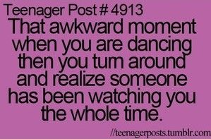 #Relatable #TeenagerPost #AwkwardMoments    me when i'm thinking of a bruno mars song in the kitchen, and then i turn around and one of my siblings is standing there with a camera and snickering.