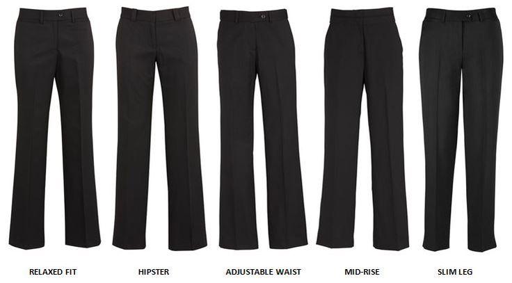 Ladies' pant styles from Biz Corporates