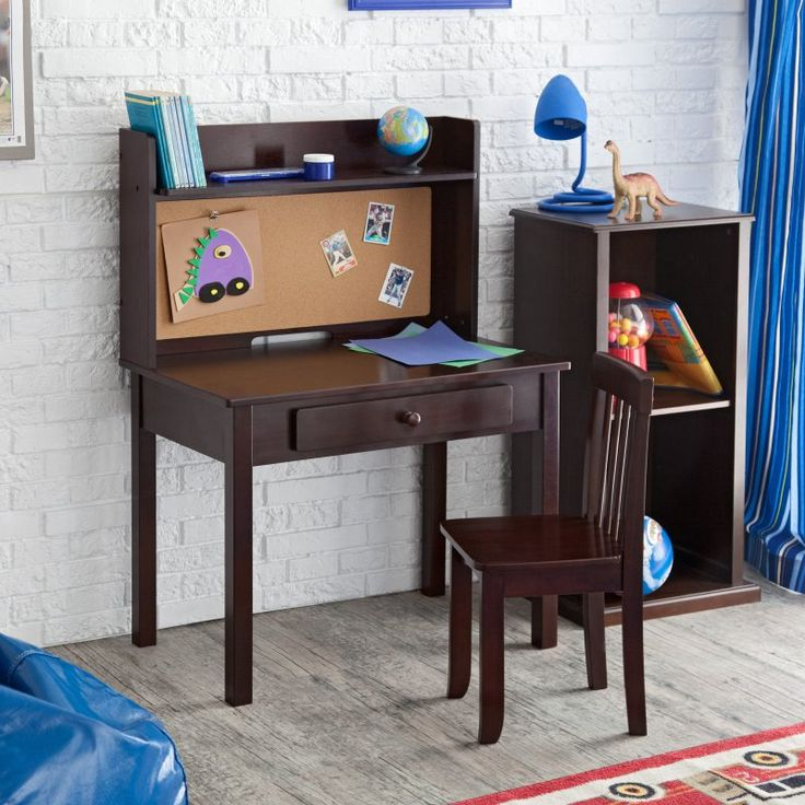 KidKraft Pinboard Desk with Hutch & Chair - 27150 - 27150
