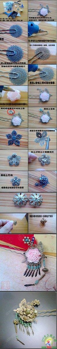 ancient chinese hair pin diy