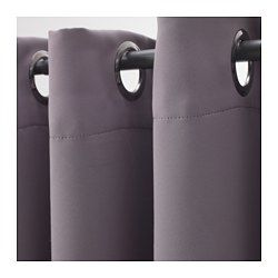 IKEA - BOLLOLVON, Block-out curtains, 1 pair, , The curtains prevent most light from entering and provide privacy by blocking the view into the room from outside.The eyelet heading allows you to hang the curtains directly on a curtain rod.
