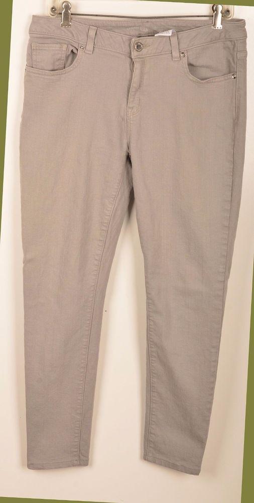 "Michael Kors Jeans 8 Mid Rise Stretch Skinny Jeans Gray Denim 27.5"" Inseam #MichaelKors #StraightLegSkinnyJeans"