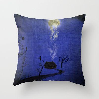 Way to home Throw Pillow by Oscar Tello Muñoz - $20.00