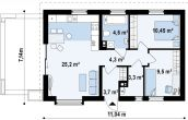 Proiect de Casa Ieftina Cod 210931 Parter 3 Camere - RateLaDezvoltator.ro - locuinte ieftine