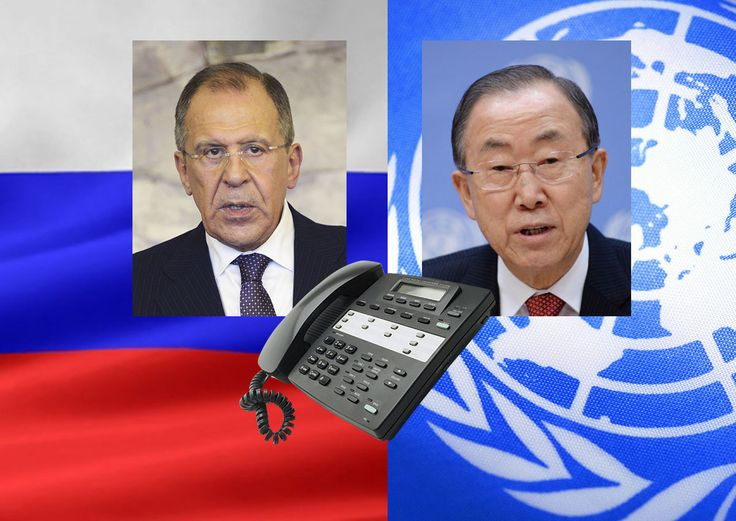 Press Release on Foreign Minister Sergey Lavrov's telephone conversation with UN Secretary-General Ban Ki-moon - http://www.therussophile.org/press-release-on-foreign-minister-sergey-lavrovs-telephone-conversation-with-un-secretary-general-ban-ki-moon.html/