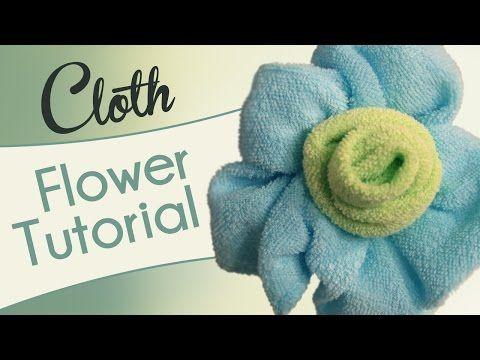 Washcloth Flower - Videotutorial