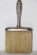 Antique Sterling Silver Victorian Whisk Broom Sunflower Floral design