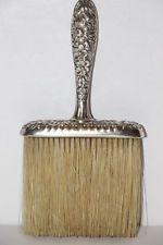 Antique Sterling Silver Victorian Whisk Broom Sunflower Floral design
