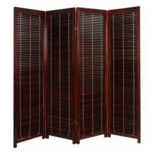 Kavari Canvas 3 Panel Room Divider - Rosewood - Add authentic charm while creating new decorating spaces with the Kavari Canvas 3 Panel Room Divider - Rosewood . This distinctive, yet understated folding...