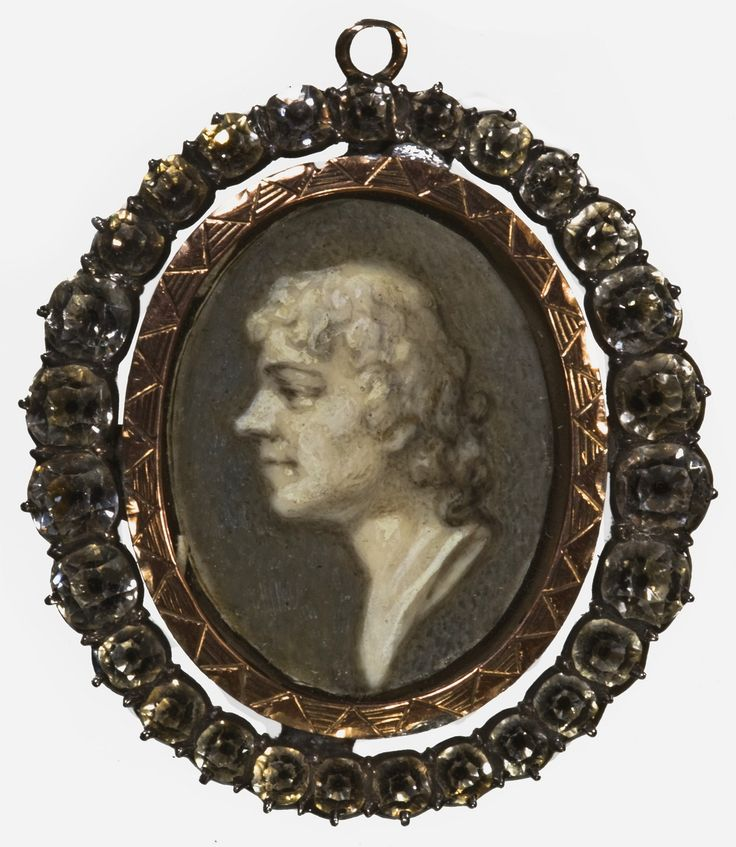 Miniature of Tadeusz Kościuszko en grisaille in a frame set with diamonds by Giuseppe Grassi, end of the 18th century, Ossolineum