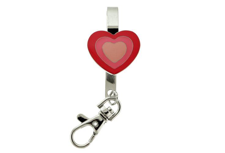 Pink Heart Shaped Hand Bag Clip Keychain KEKC5212