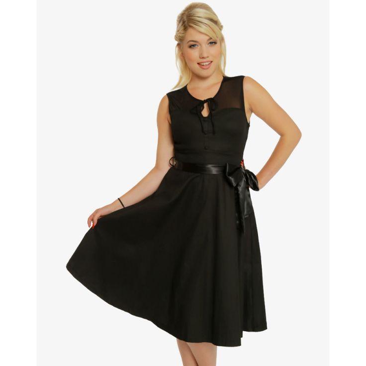 Černé společenské šaty Lindy Bop Devona