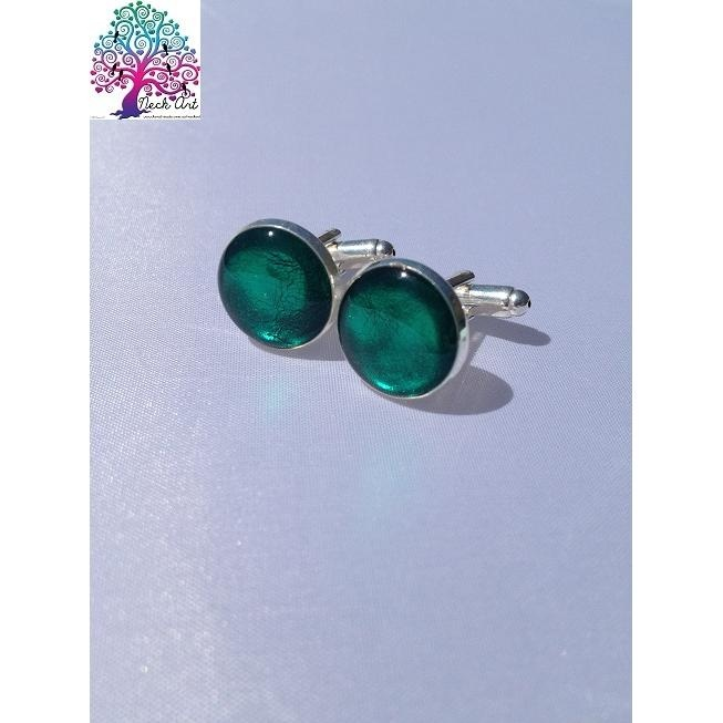 $25.00 Neck Art Cufflinks Green by NeckArt on Handmade Australia