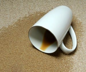 How to remove coffee stains (new and old) from carpet.