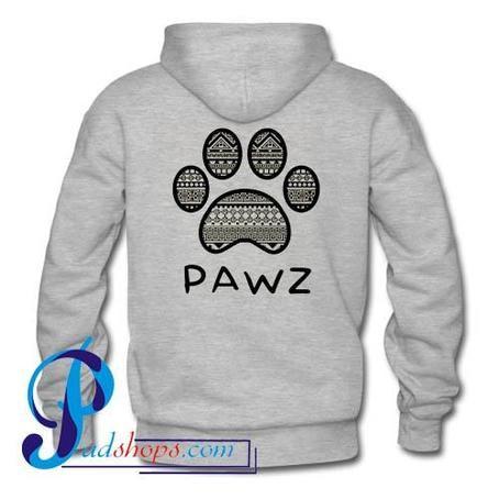 Pawz Hoodie Back
