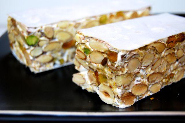 il torrone.  Italian-style nougat Christmas candy.  http://duespaghetti.com/2013/12/14/il-torrone/