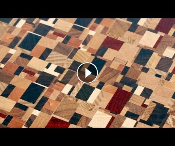 I show another method of making Chaotic pattern end grain cutting board. It is easier and faster.