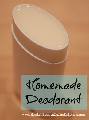 I've never seen a recipe that seemed like it would work... until this one. Homemade Natural Deodorant | Health Starts in the Kitchen
