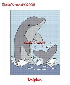 CHELLA*CROCHET Dolphin Porpoise Afghan Crochet Pattern Graph Emailed by chellacrochet $3.75