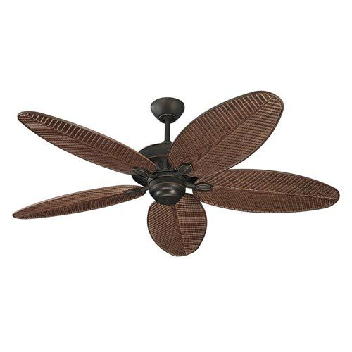 Monte Carlo Cruise Roman Bronze 52 Inch Outdoor Ceiling Fan - Bellacor $275.50 (sale) | American walnut grain blades with a tropical leaf look.