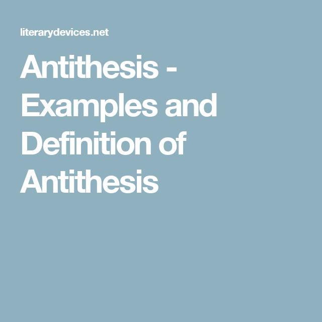 antithesis journal Thesis, antithesis, synthesis, marx says in das elend der philosophie, is hegel's purely logical formula for the movement of pure reason, and the whole system is engendered by this dialectical movement of thesis, antithe.