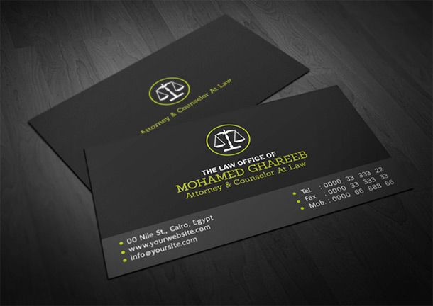business cards for lawyers and attorneys building your