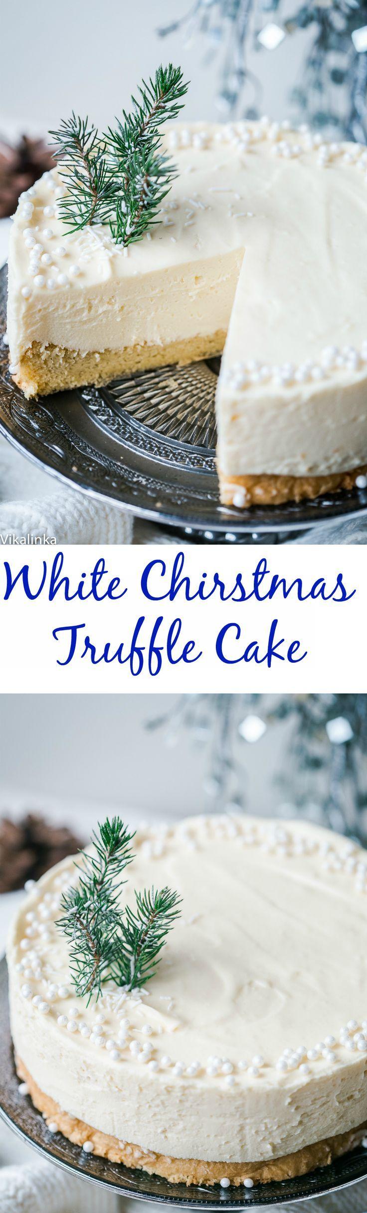 화이트 크리스마스 트러플 케이크
