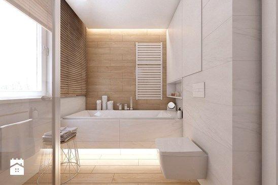 (Tarnowskie Góry) Projekt domu jednorodzinnego 10 - Mała łazienka w domu jednorodzinnym z oknem, styl skandynawski - zdjęcie od BAGUA Pracownia Architektury Wnętrz