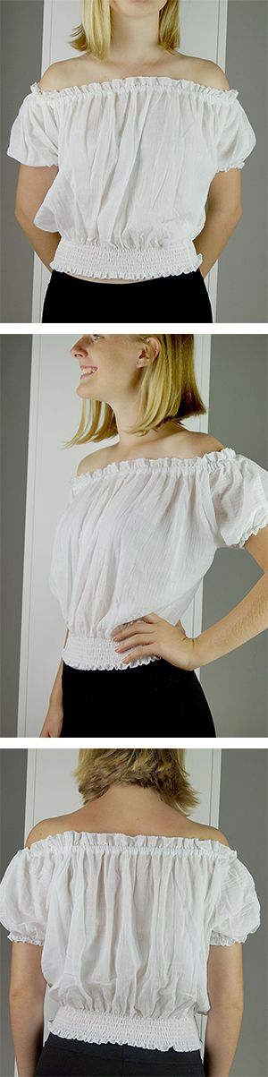 This is your classic Spanish style off-the-shoulder peasant blouse. Reasonably short in length this top is paired well with a high waist skirt or jeans. A beautiful little gypsy number for all of our boho Noosa gals.  Shop this style >> Online or visit us in Noosa! <3  www.kobomo.com.au