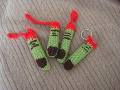 Free Crochet Monster Finger Chapstick Cozy Pattern.