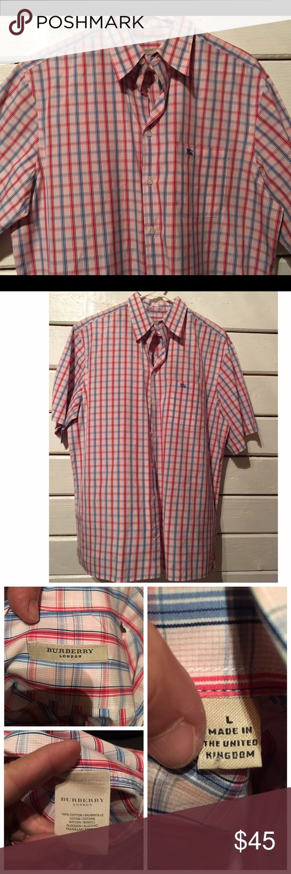 Burberry men's shirt. Large. Burberry men's shirt. Size large. Shirt in EXCELLENT condition , no stains, no rips, all buttons. Get your guy a Burberry shirt for a quarter of the price. Burberry Shirts