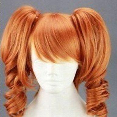 mode cosplay wig 20 inches lång lockigt animerad syntetiskt hår peruker part peruk tecknad peruk 2967616 2016 – Kr.155