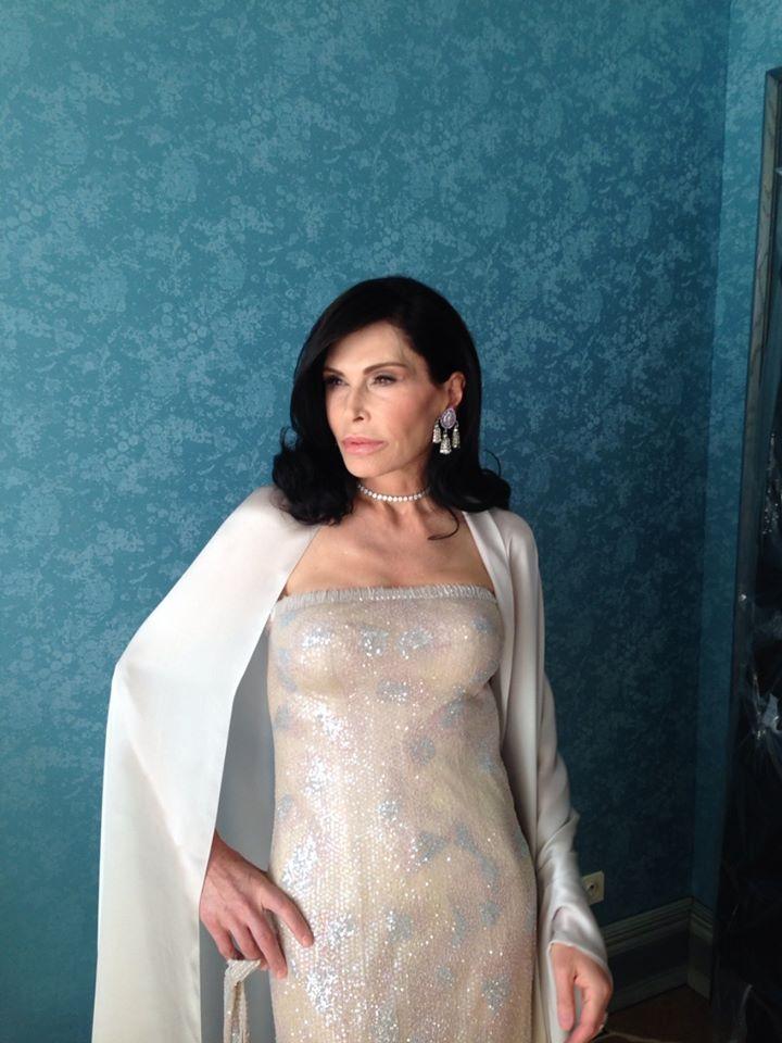 Mouna Ayoub in Cannes, 2014