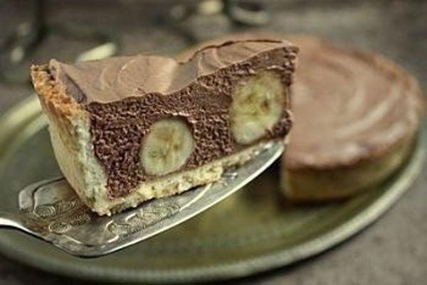 Čokoládovo-banánová torta - Receptik.sk