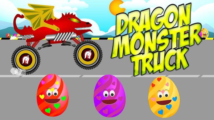 Monster Truck Dragon | Chinese Dragon Monster truck for kids - Monster t...