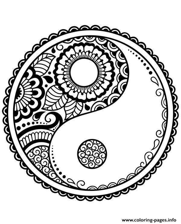 Print Mandala Symbols Yin Yang Coloring Pages Mandala Symbols Mandala Coloring Pages Coloring Pages