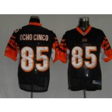 Bengals #85 Chad Ochocinco Black Stitched NFL Jersey