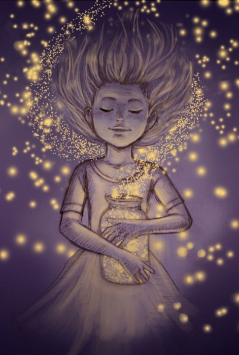Fireflies are a child's introduction to the existence of magic in the world and the possibility fairies do exist