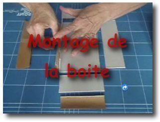 Boite : montage de la boite  (video)