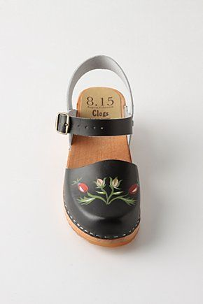 fabulous clogs -- Lapprose clogs from 8 15 (August 15th), via Anthropologie