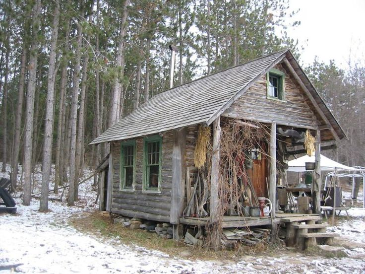 this is all i really want and need. a small, well built, eco-friendly cabin somewhere wild.