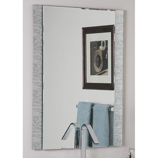 The Art Gallery Mirror mirror on the wall this is the most modern and unique of them allThis frameless wall mirror has a mylar backed glass border with beveled inside