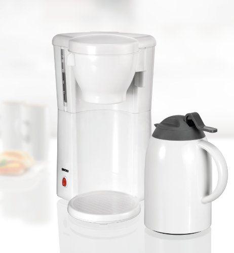 Electrodomestico - Unold 28531 White Line – Cafetera por goteo con jarra térmica -  http://tienda.casuarios.com/unold-28531-white-line-cafetera-por-goteo-con-jarra-termica-8-tazas-color-blanco/